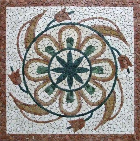 Lily Wreath Mosaic Artwork
