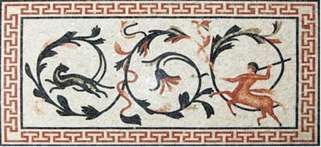 The Hunt Roman Mosaic Art