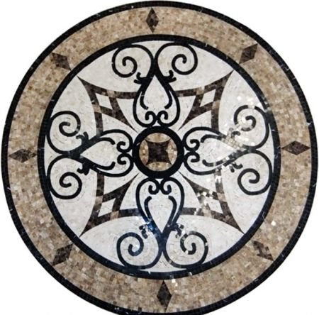 Follow Suit Medallion Marble Mosaic