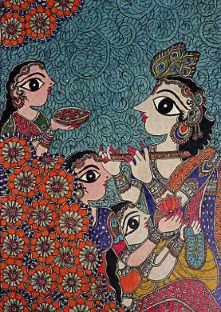 The Party Madhubani Art