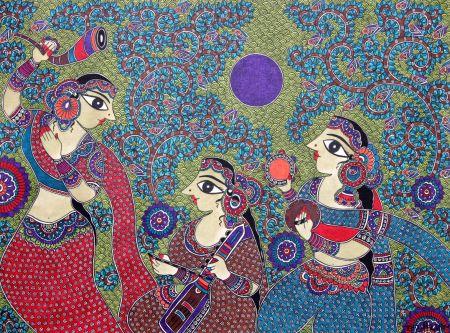 Rhythm Musical Band Madhubani Art