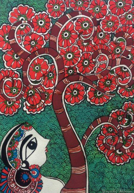 Tree of Life Madhubani Artwork