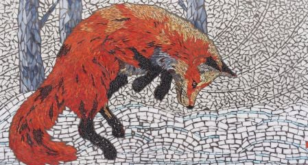 Fox Pounce by Pamela Mauseth
