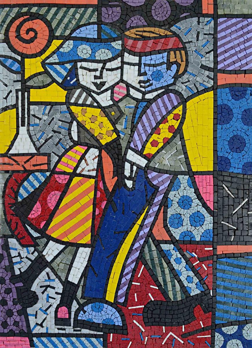 custom made mosaic artwork provided by Mosaics Lab on mosaicslab.com