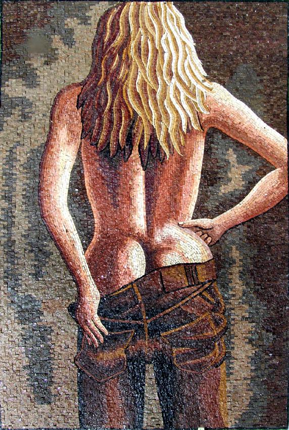 custom made marble tile mosaic artwork provided by Mosaics Lab on mosaicslab.com