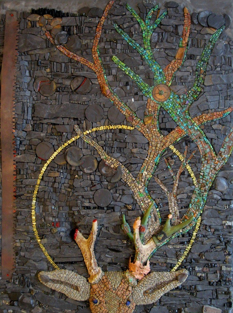 Rachel Sager Allegory of Free Will | custom made tile mosaic design provided by Mosaics Lab on mosaicslab.com