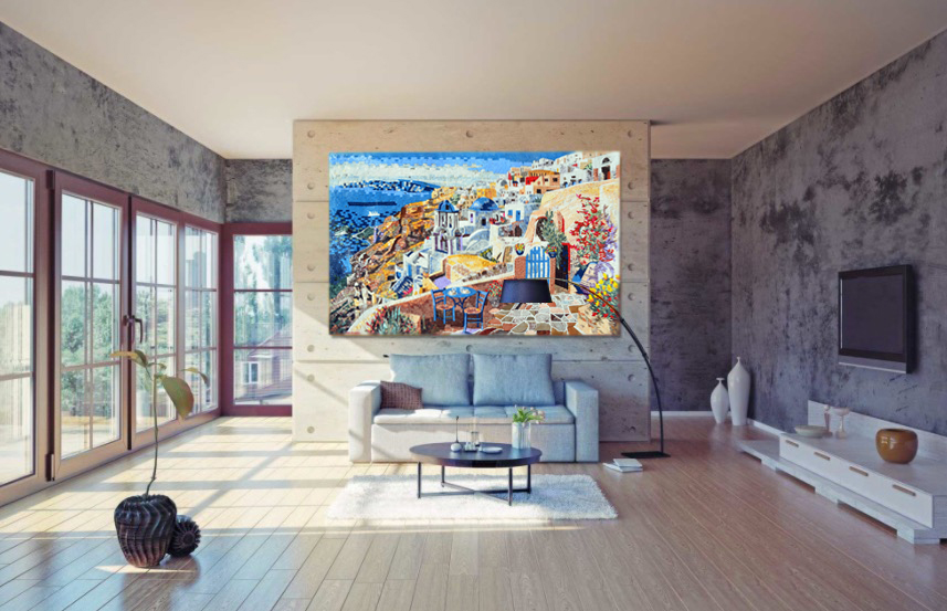 Custom mosaics, contemporary mosaic designs, mosaic artwork and mosaic tiles on mosaics lab