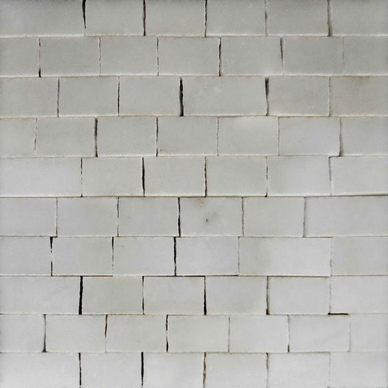 Carrara Marble Mosaics Sheet by Mosaics Lab