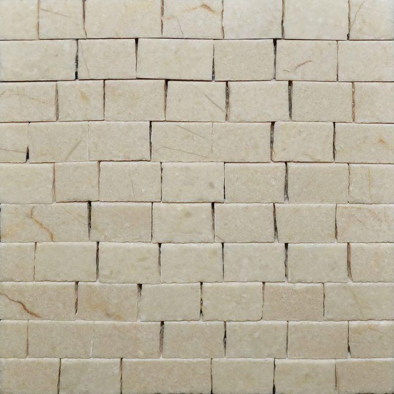 Creme Marble Mosaics Sheet by Mosaics Lab
