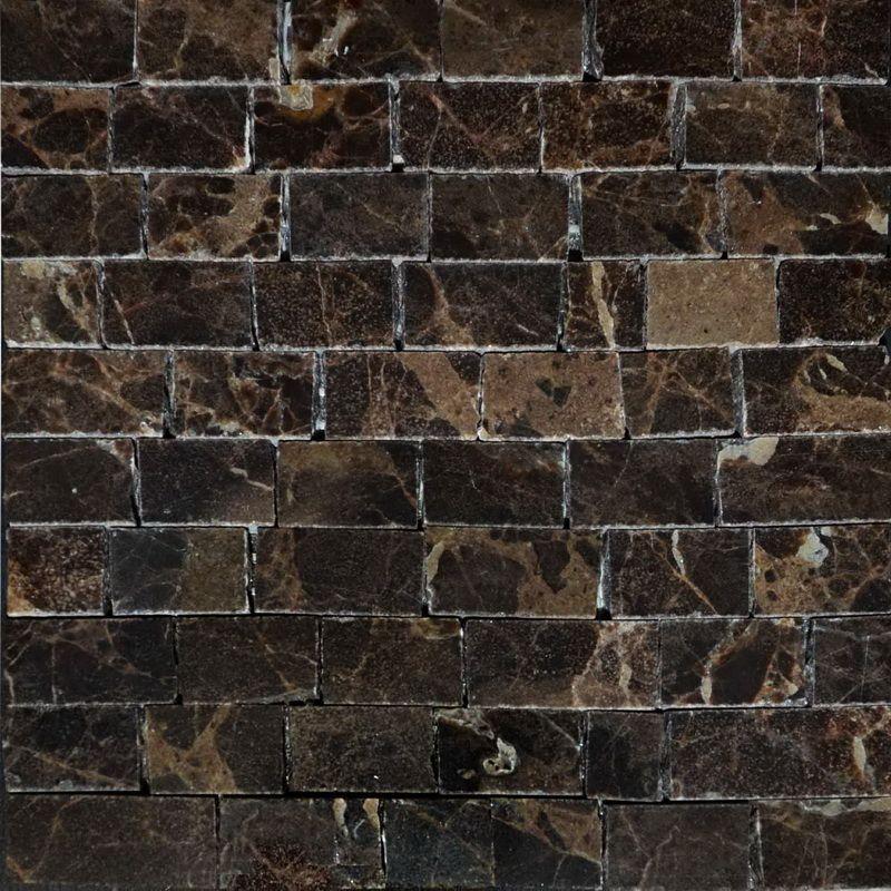 Emperador dark Marble Mosaics Sheet by Mosaics Lab