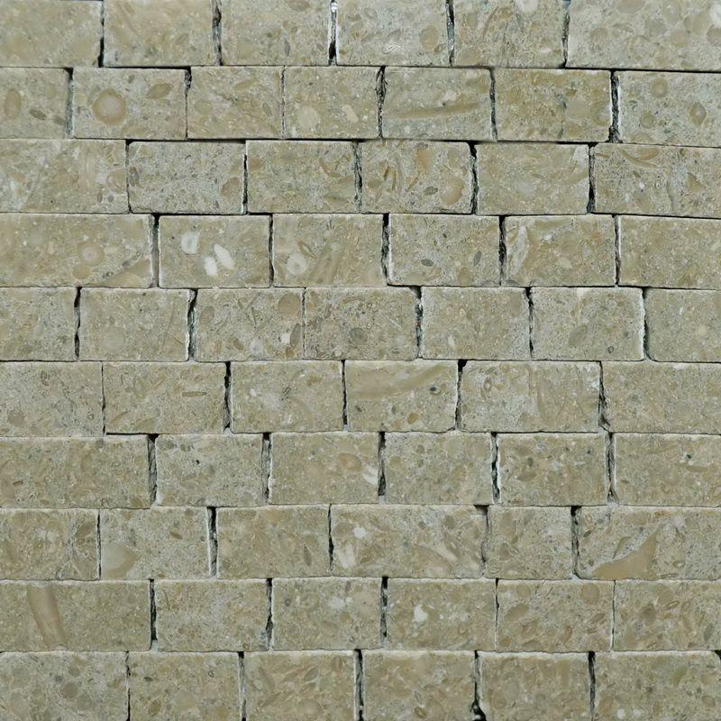 Fossil green Marble Mosaics Sheet by Mosaics Lab