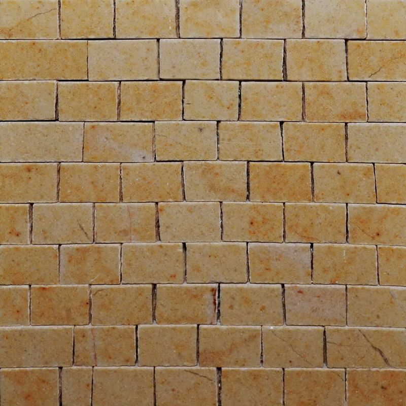 Giallo Oro Marble Mosaics Sheet by Mosaics Lab