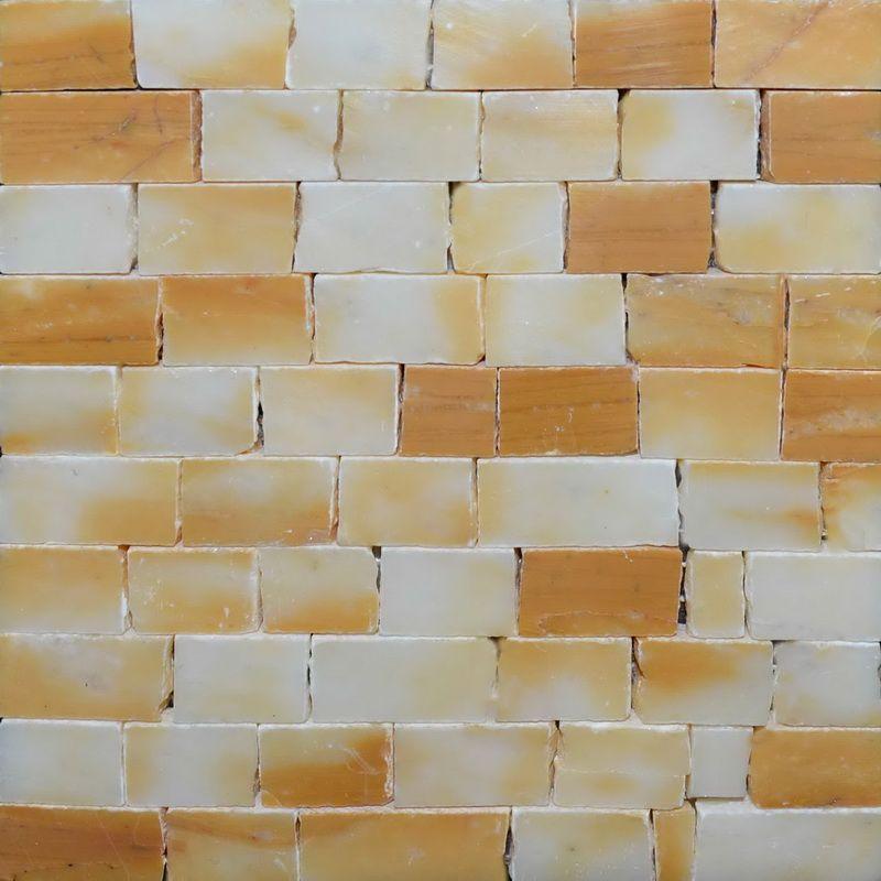 Giallo Siena Marble Mosaics Sheet by Mosaics Lab