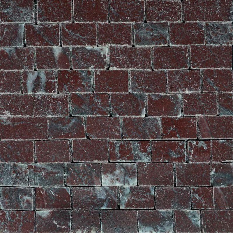 Rosso laguna Marble Mosaics Sheet by Mosaics Lab