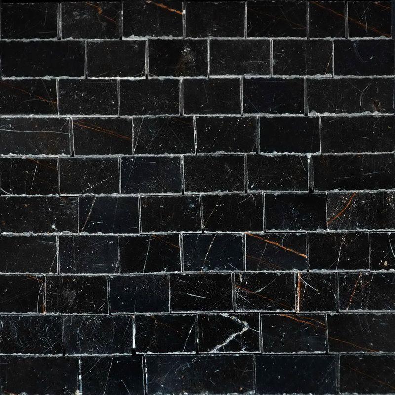 Black Marble Mosaics Sheet by Mosaics Lab