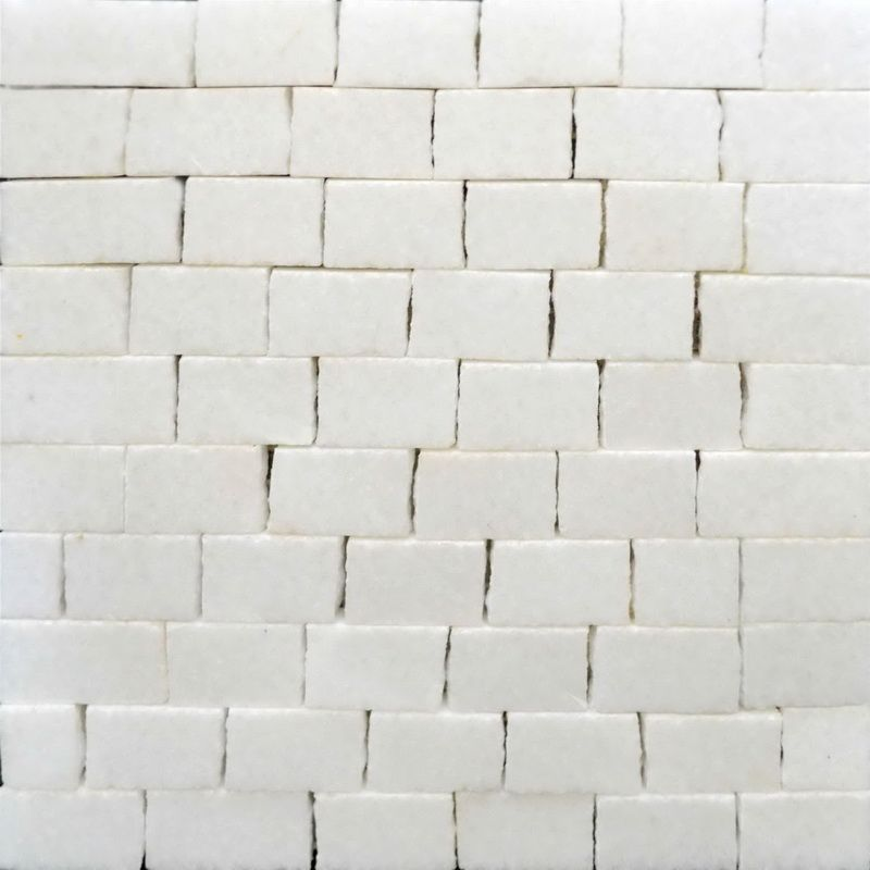 White Marble Mosaics Sheet by Mosaics Lab