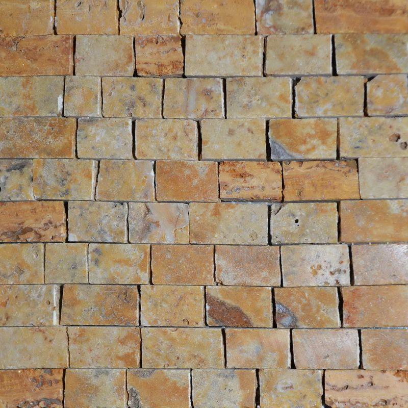 Travertino Marble Mosaics Sheet by Mosaics Lab