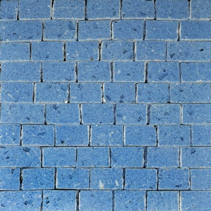 aqua blue Marble Mosaics Sheet by Mosaics Lab