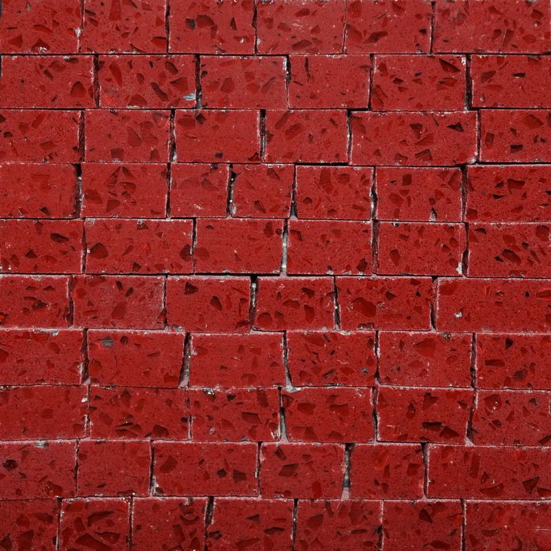 red Marble Mosaics Sheet by Mosaics Lab