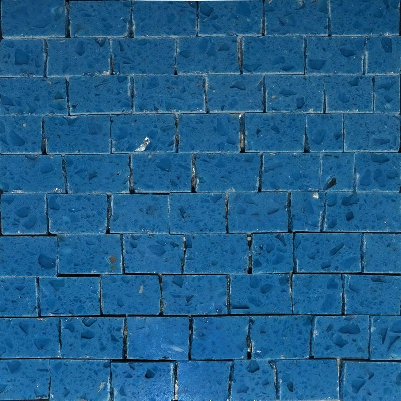 Prism blue Marble Mosaics Sheet by Mosaics Lab